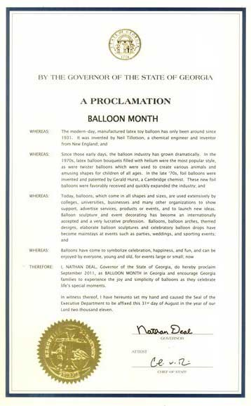 My Own Pet Balloons and Balloon Month Document